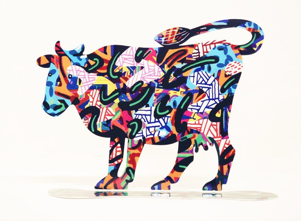David Gerstein Cow Shalva Sculpture 10 in