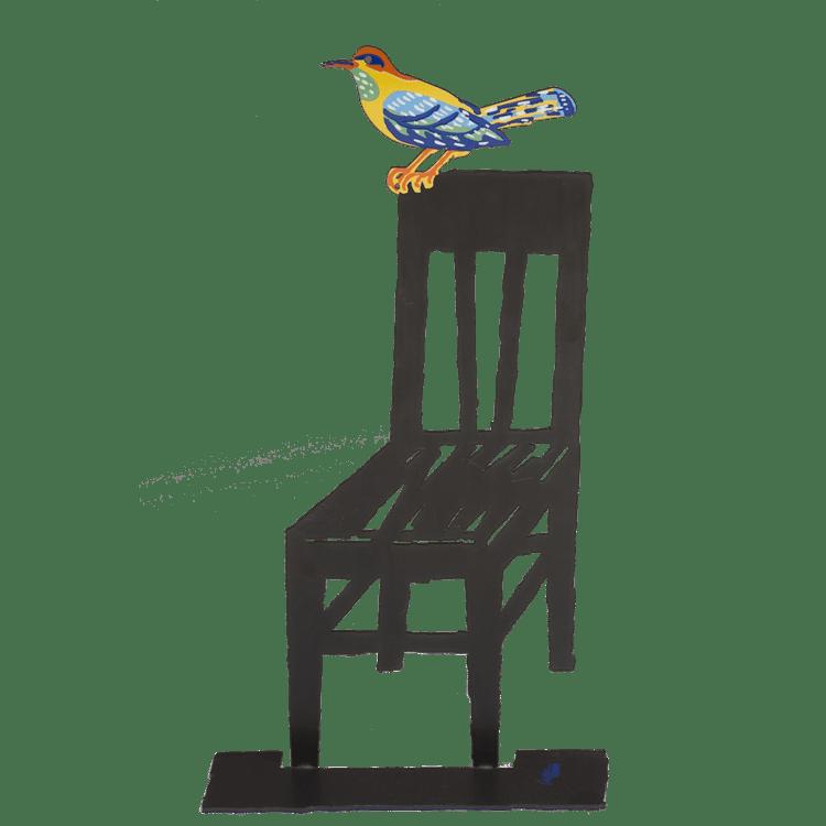 David Gerstein Empty Chair Sculpture 12.2x6.7 in