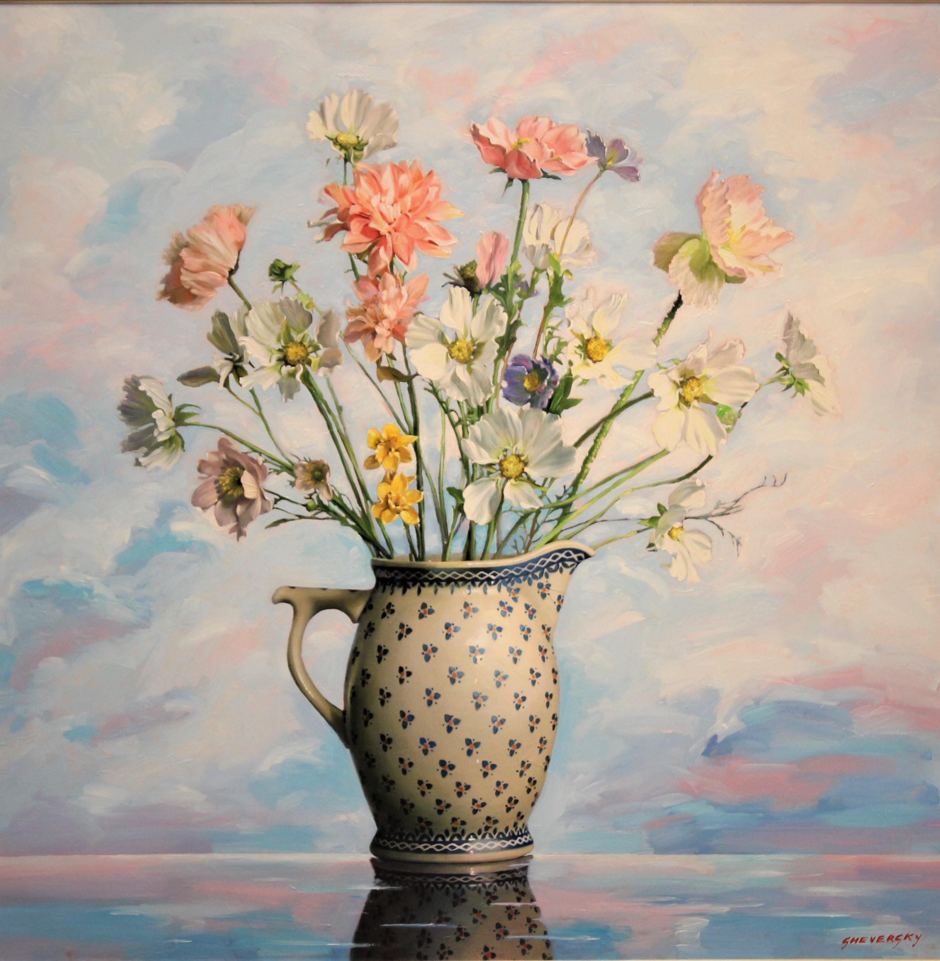 Alexander Sheversky - Spring Flowers Original Oil Painting 36x36