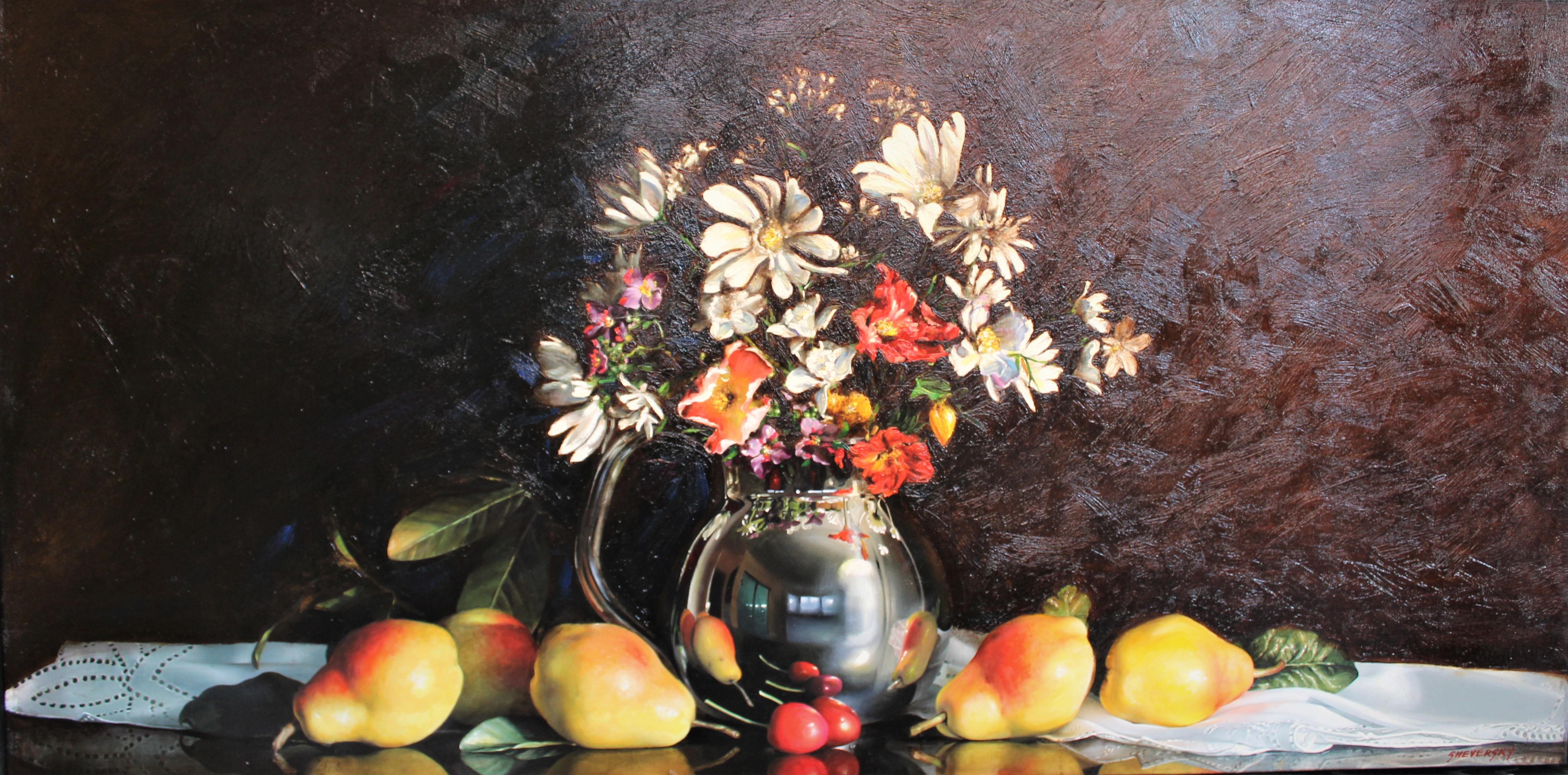Alexander Sheversky - Still Life With Flowers 30x60