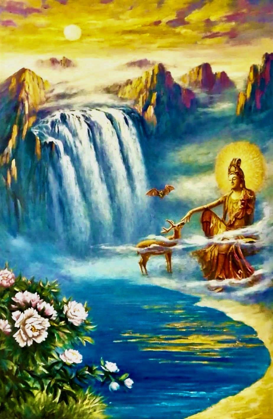 Cecilia Aisian-Gioro-Bodhisattva Ceremony -Original Oil Painting 60x40