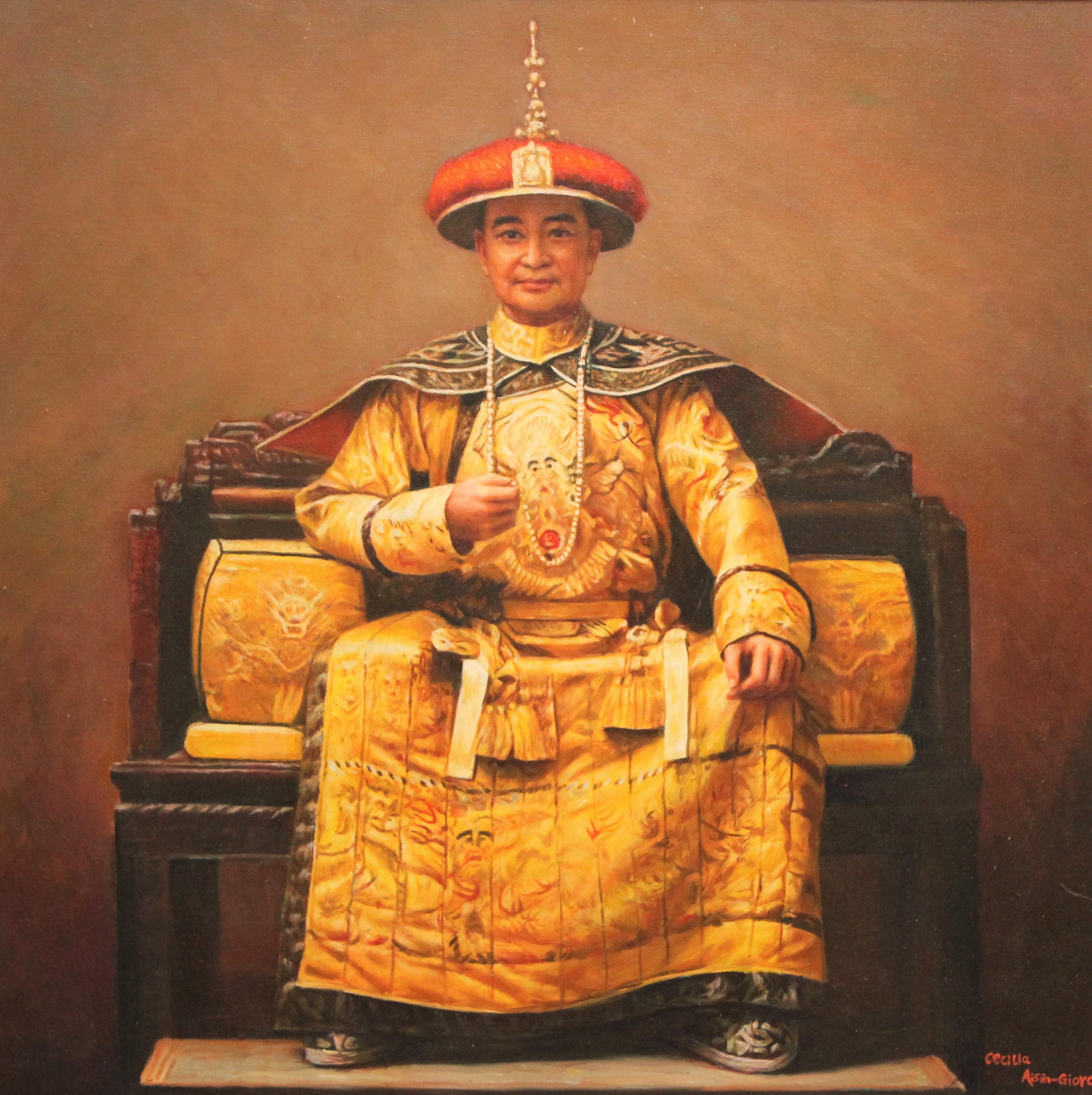 Cecilia Aisian-Gioro - Emperor-Original Oil Painting - 32x32