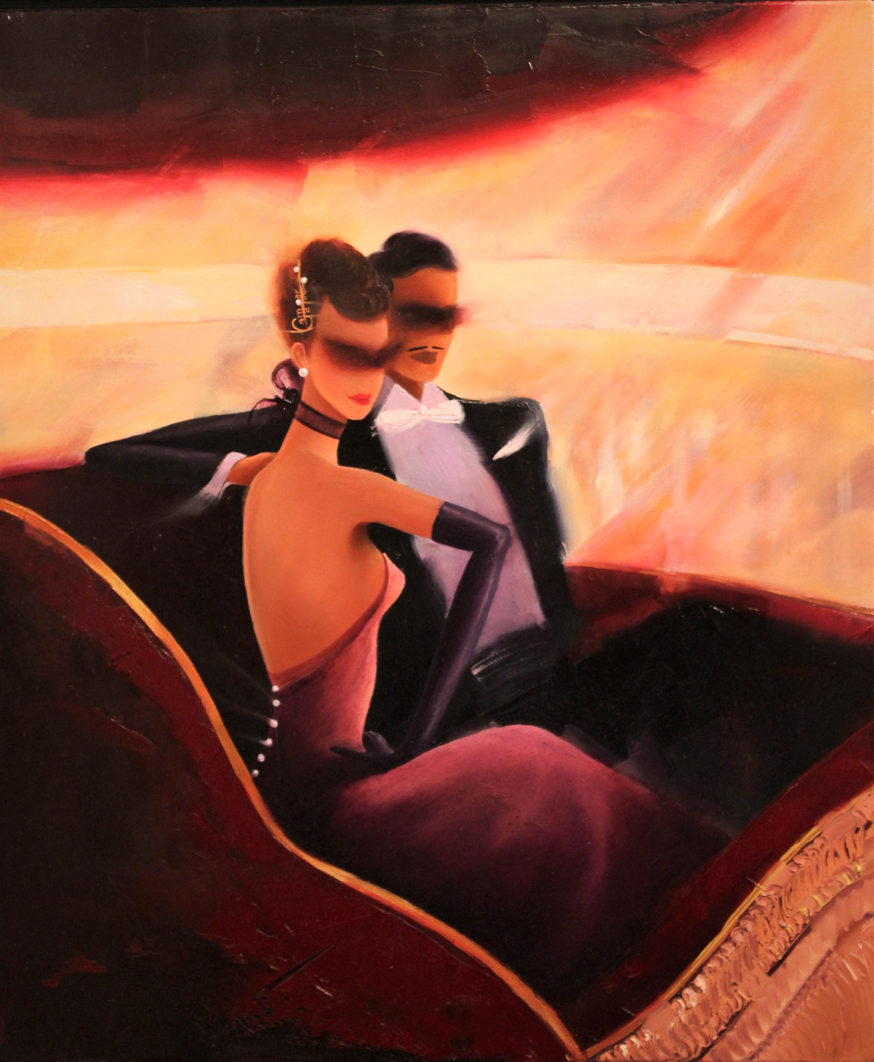 Kamiar Gajoum The Opera Box II Original Oil Painting 24x20