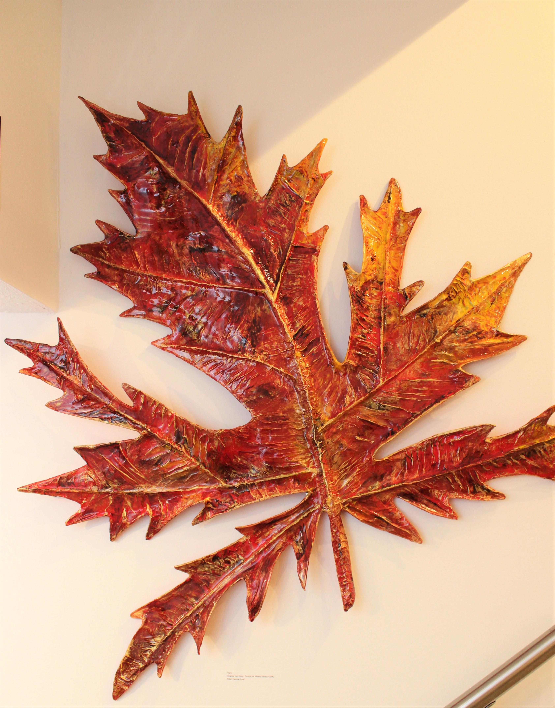 Prem-Maple Leaf- Original Mixed Media-42x43