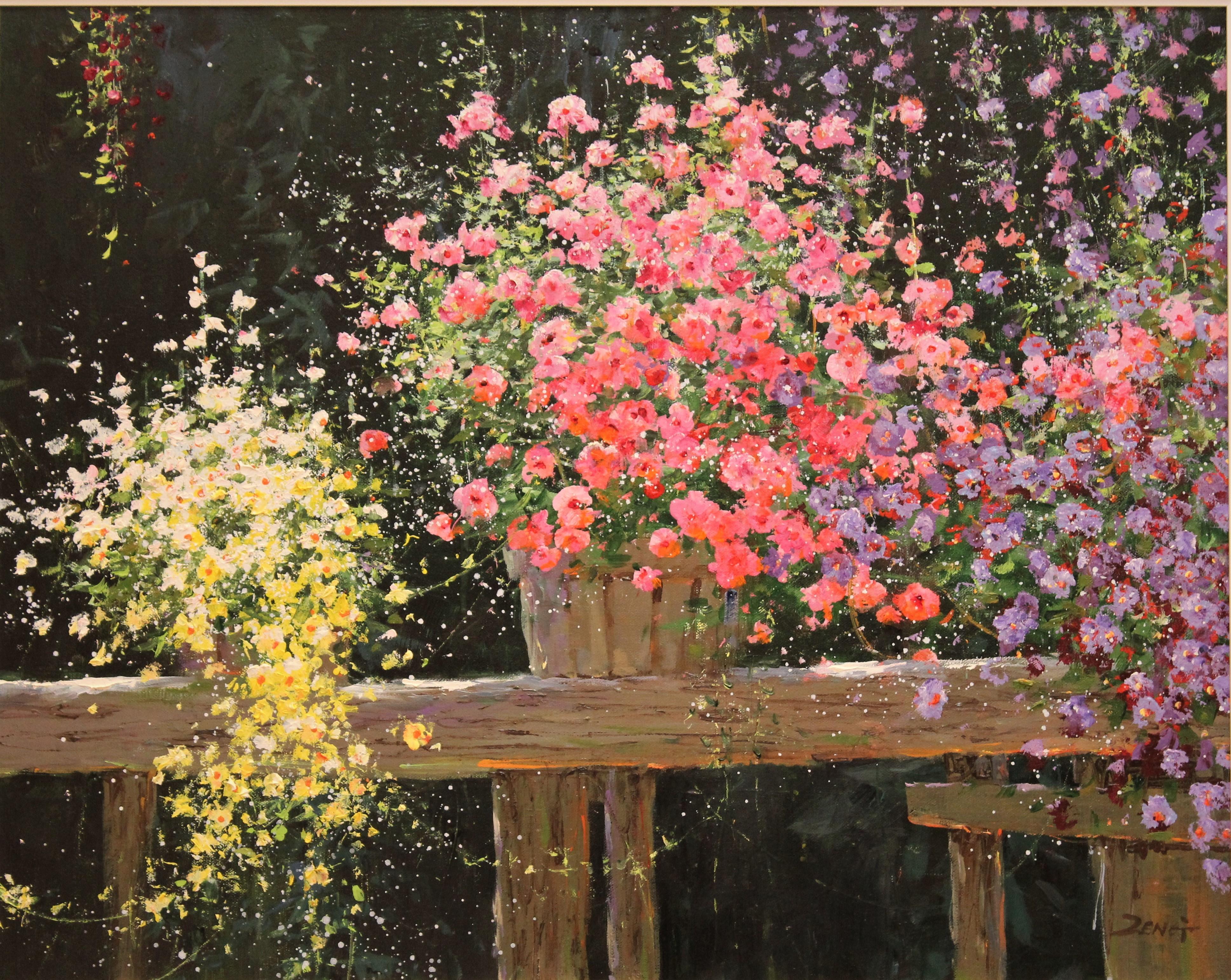 Uncle Zeng My Garden Original Oil Painting 24x30