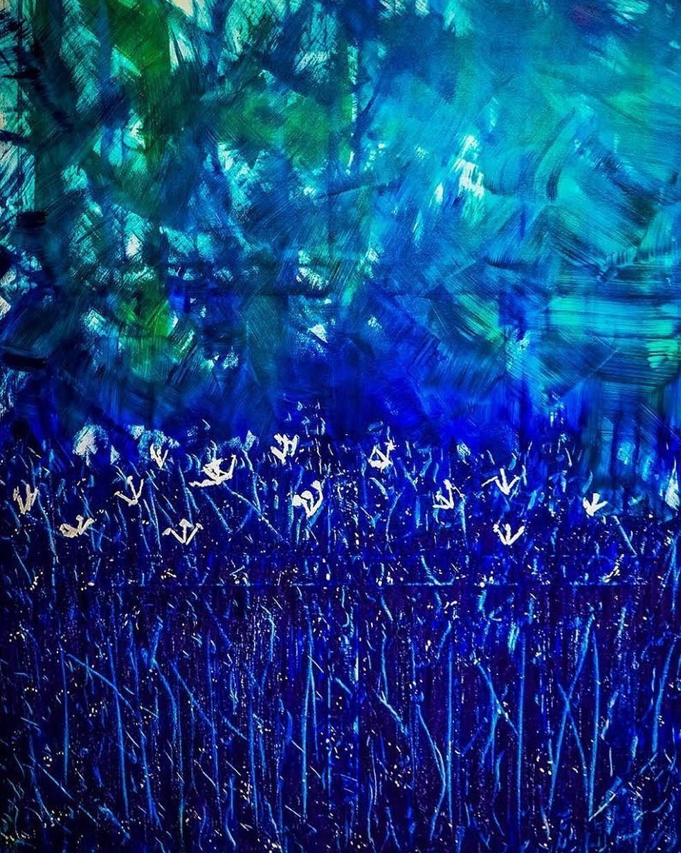 G Kim Hinkson Serenity Original Acrylic Painting 60x48