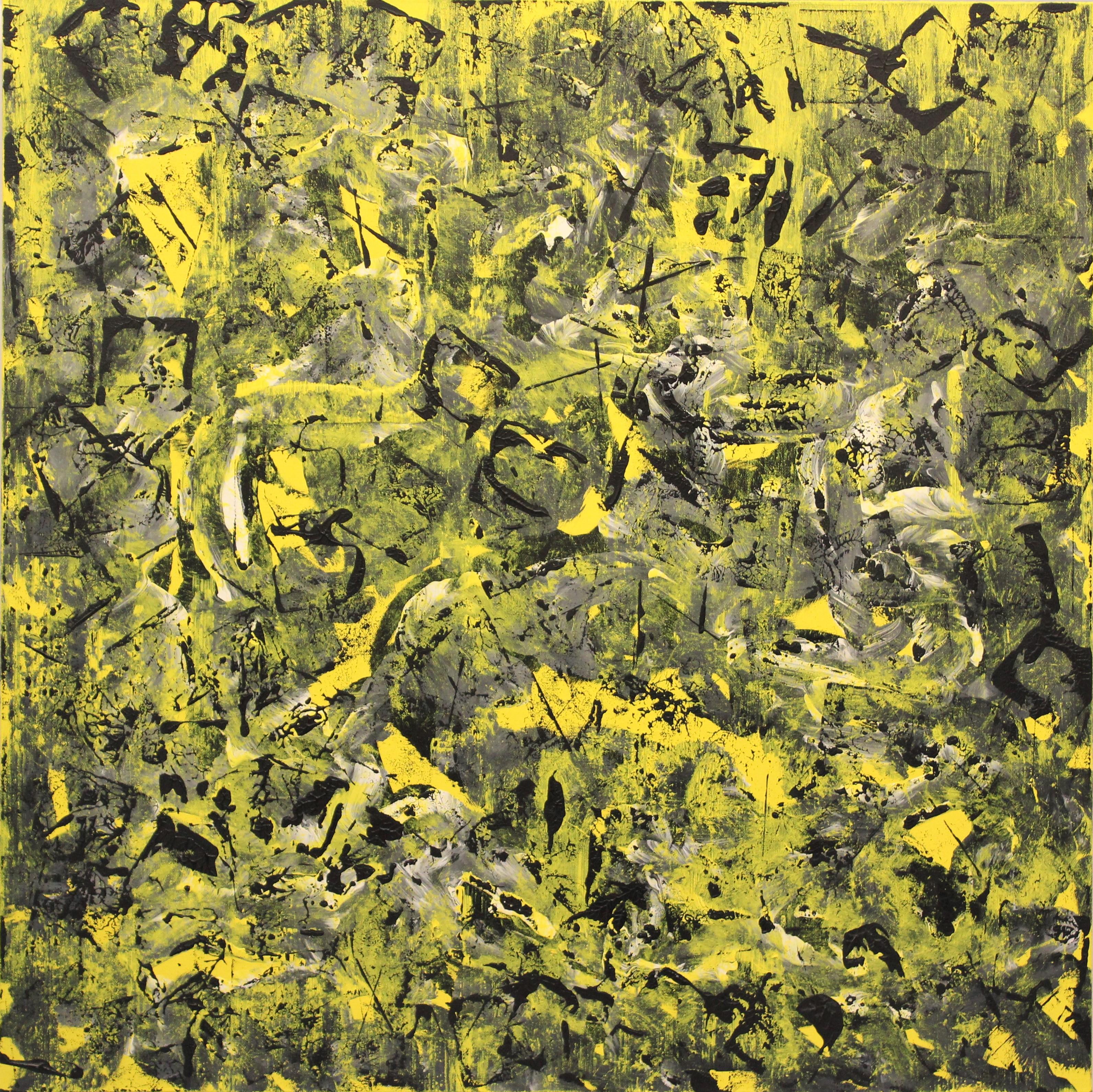 G kim Hinkson Frolicking Abstract Acrylic Painting 36x36