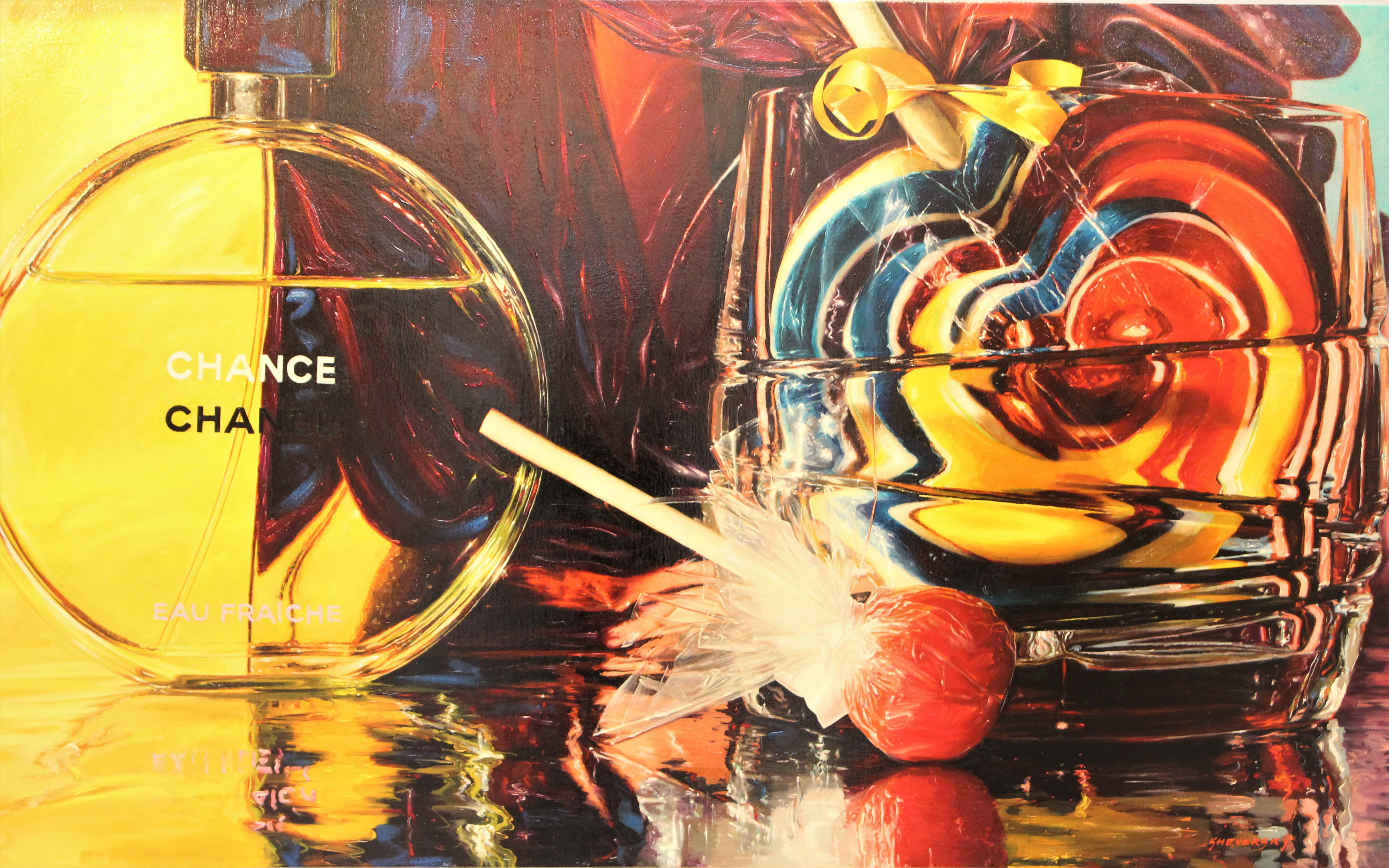 Alexander Sheversky - Chanel Original Oil Painting 32x52