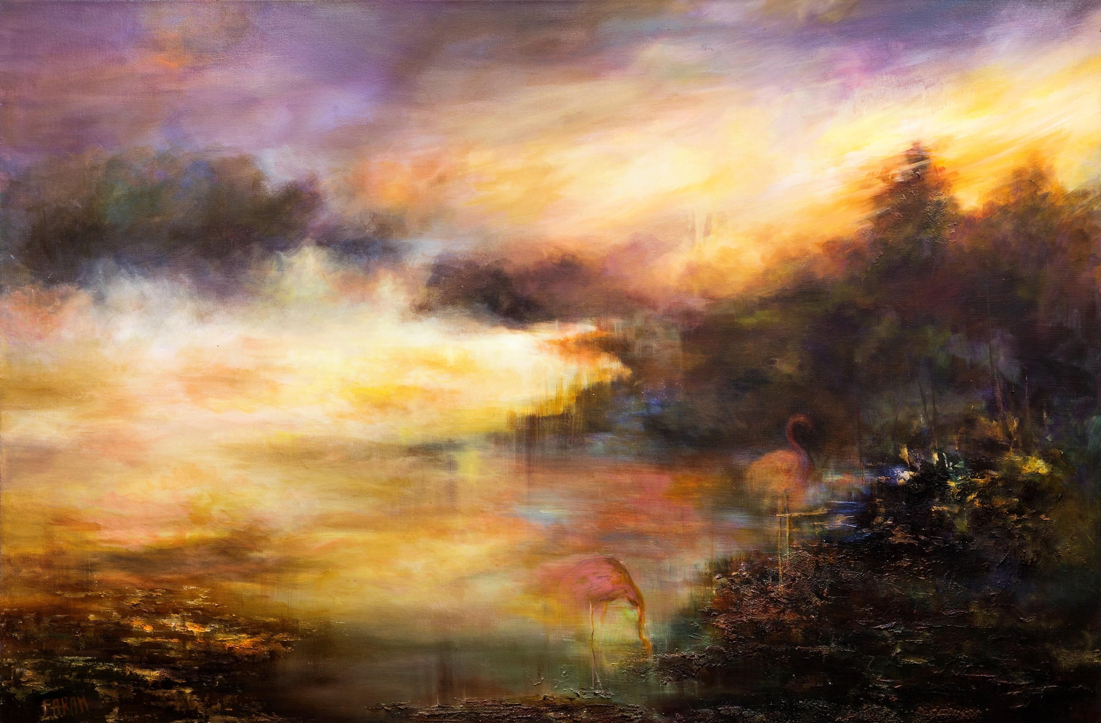 Farahnaz Samari Mist Original Acrylic Painting 36x52
