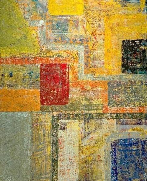 G Kim Hinkson-Mosaic-Original Acrylic Painting 48x36
