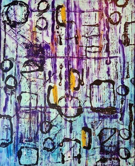 G Kim Hinkson-Timeless-Original Acrylic Painting 60x48