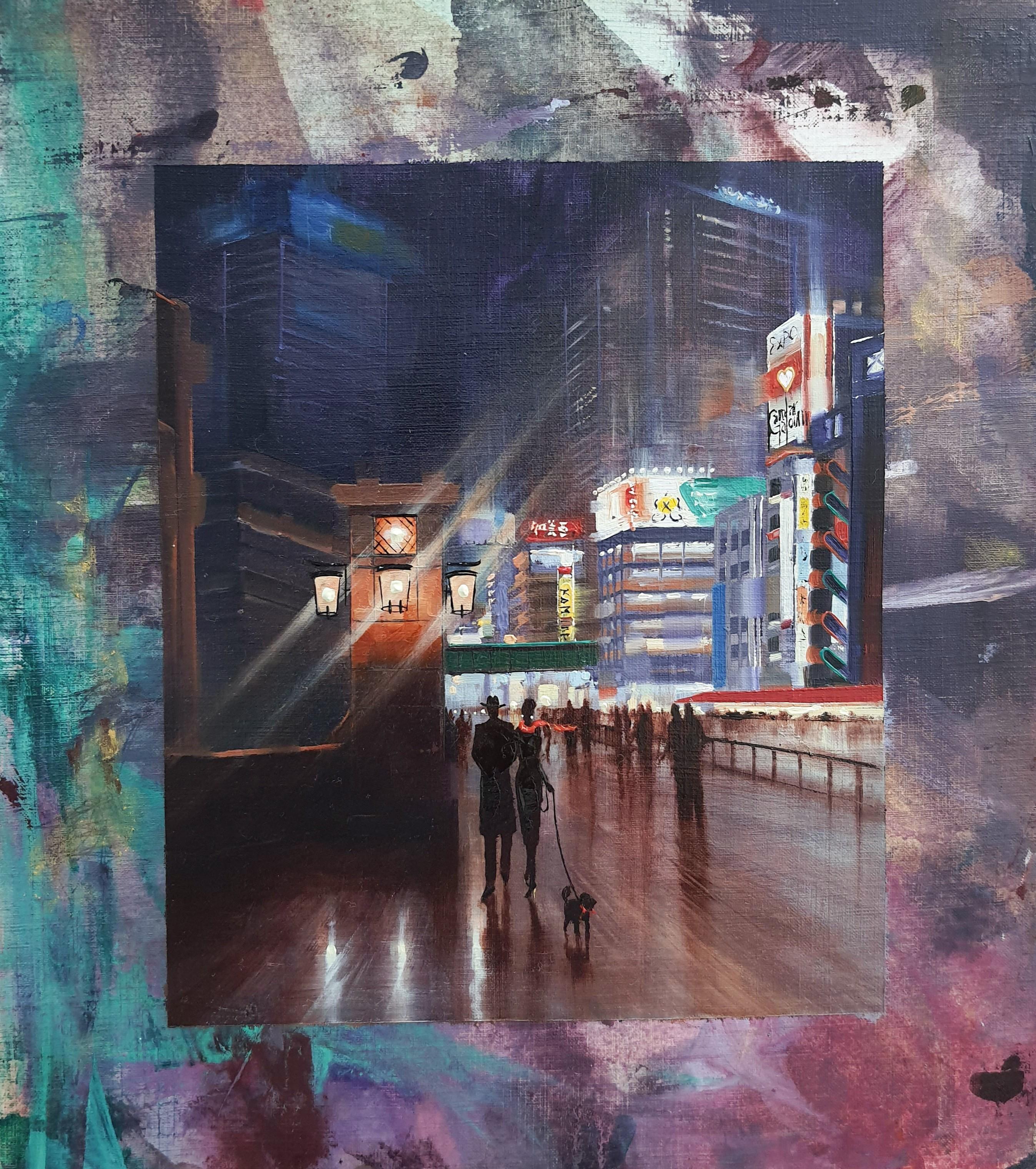 Kamiar Gajoum Akehabera Original Oil/Mixed 16x12