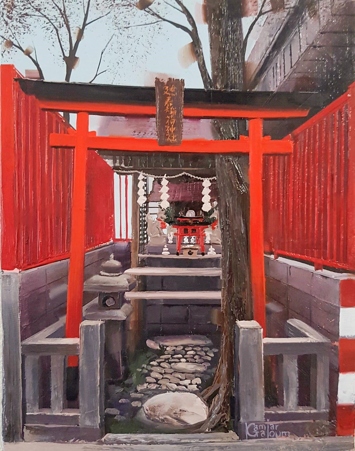 Kamiar Gajoum-Jinjya III-Original Oil Painting 7x5.5