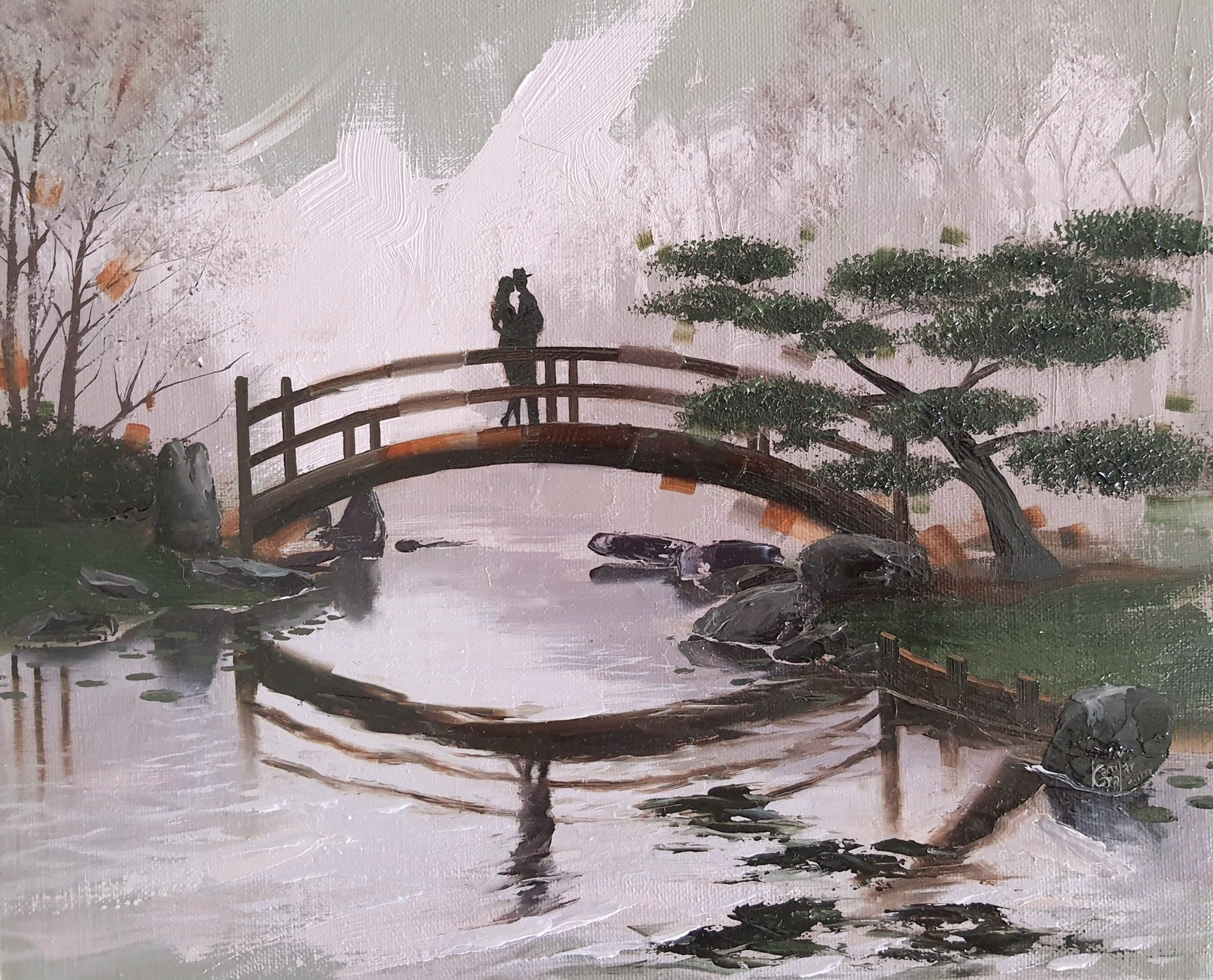 Kamiar Gajoum Memory Of You Original Oil Painting 9x11