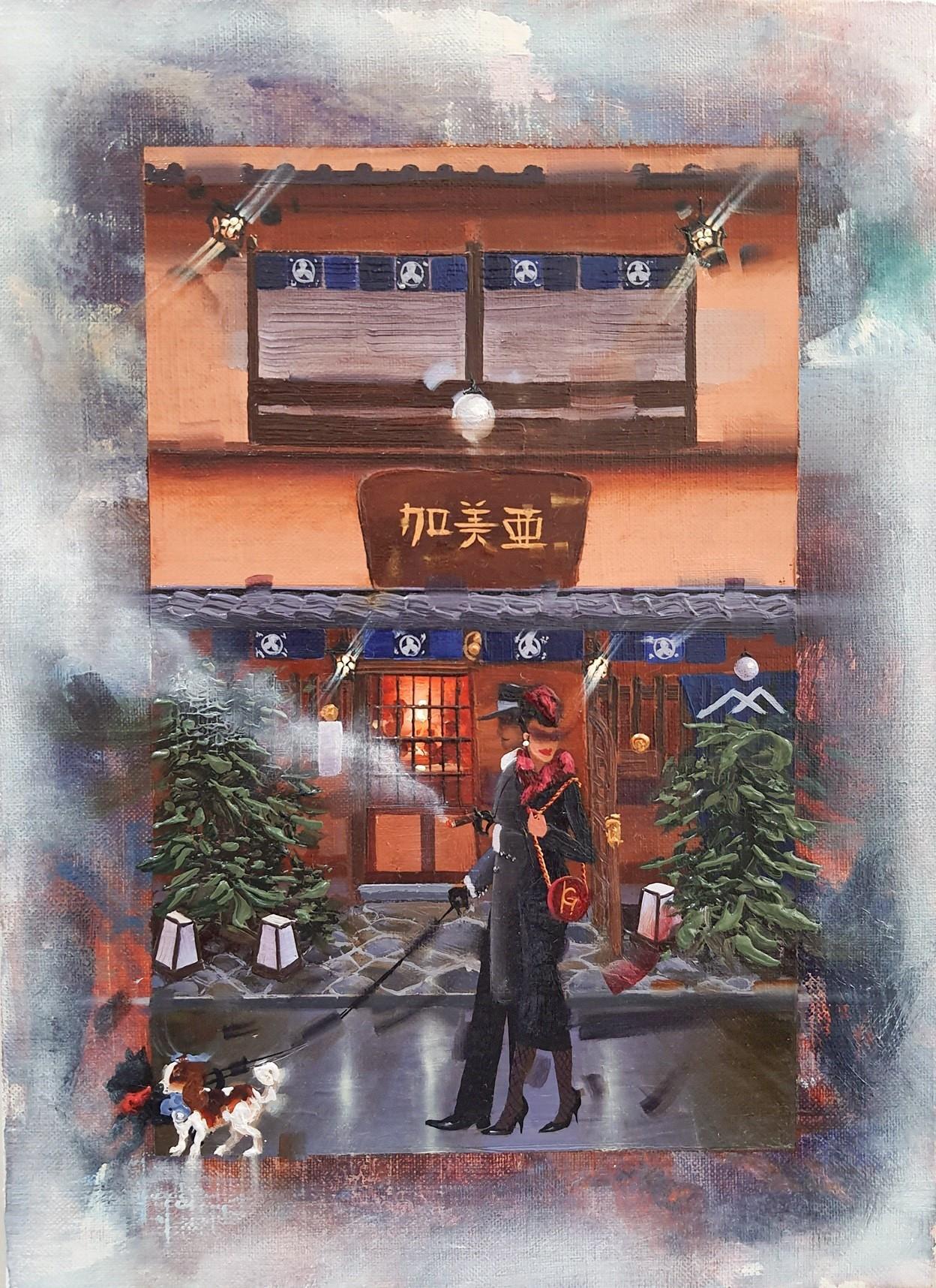 Kamiar Gajoum That Day Original Oil Painting 13x9.5
