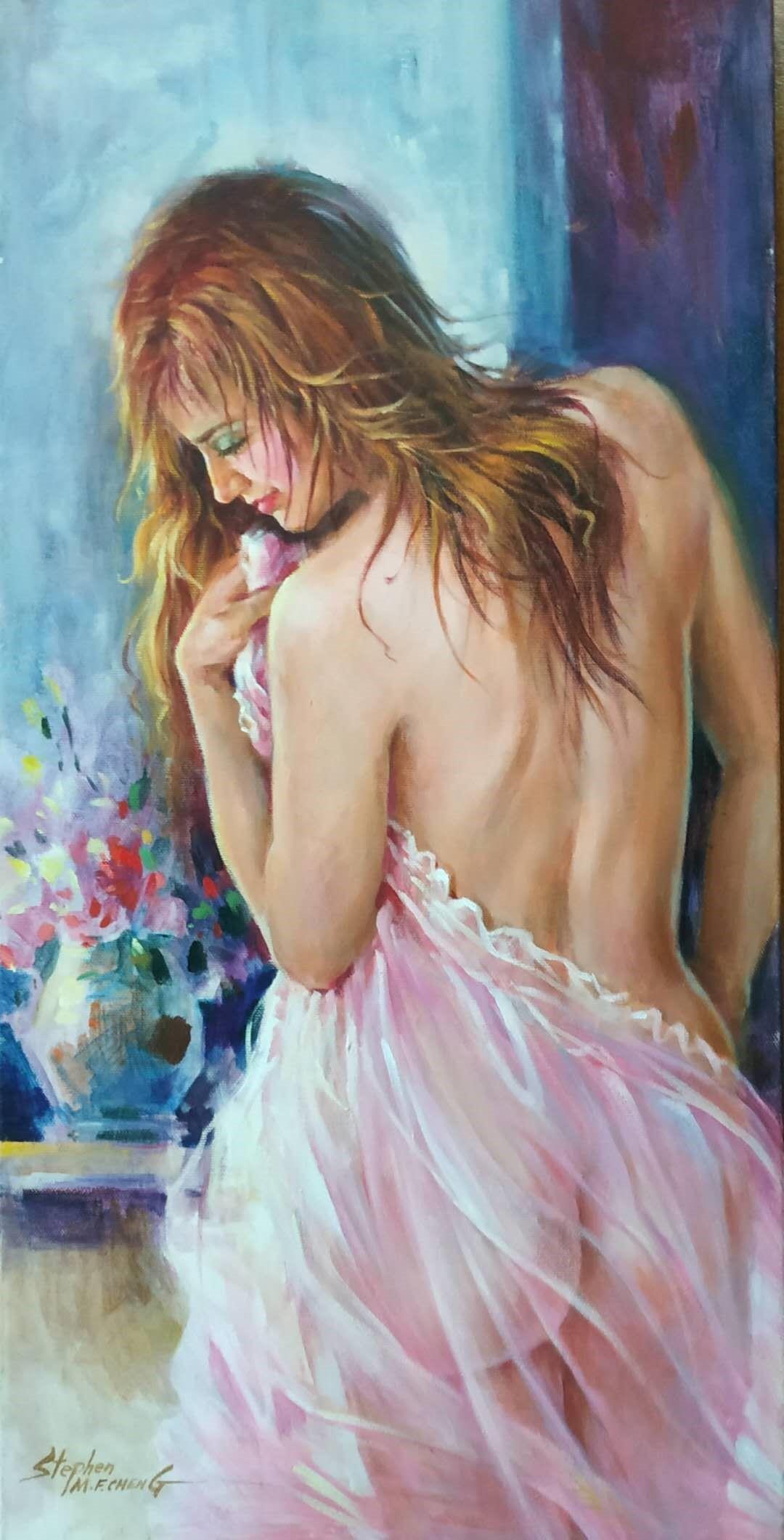 Stephen Cheng-Elegant Seduction-Original Acrylic-12x24