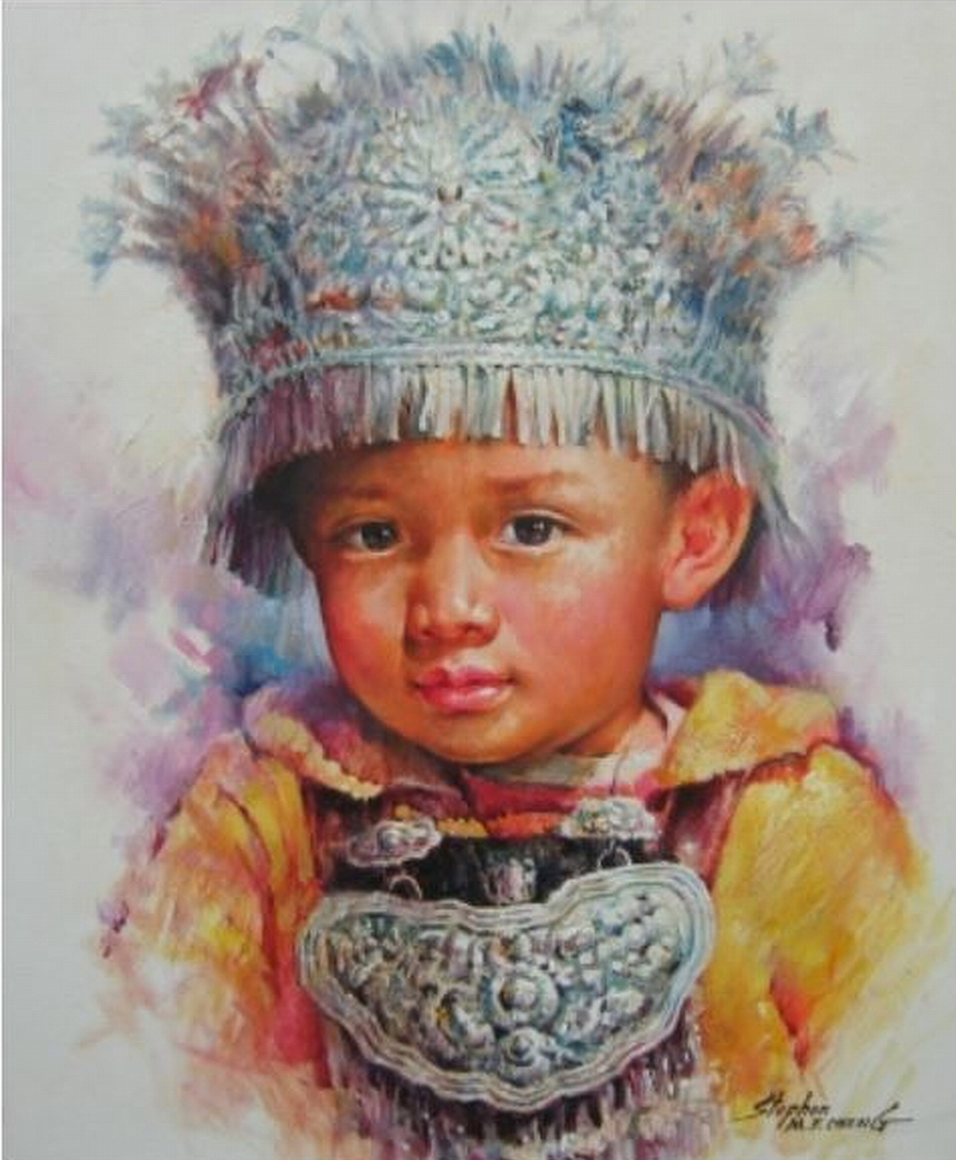 Stephen Cheng-My name is ming min-Original Acrylic Painting 24x20