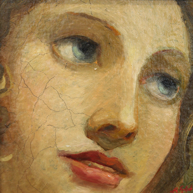 Alexander Sheversky-Face I Original Oil-6x6