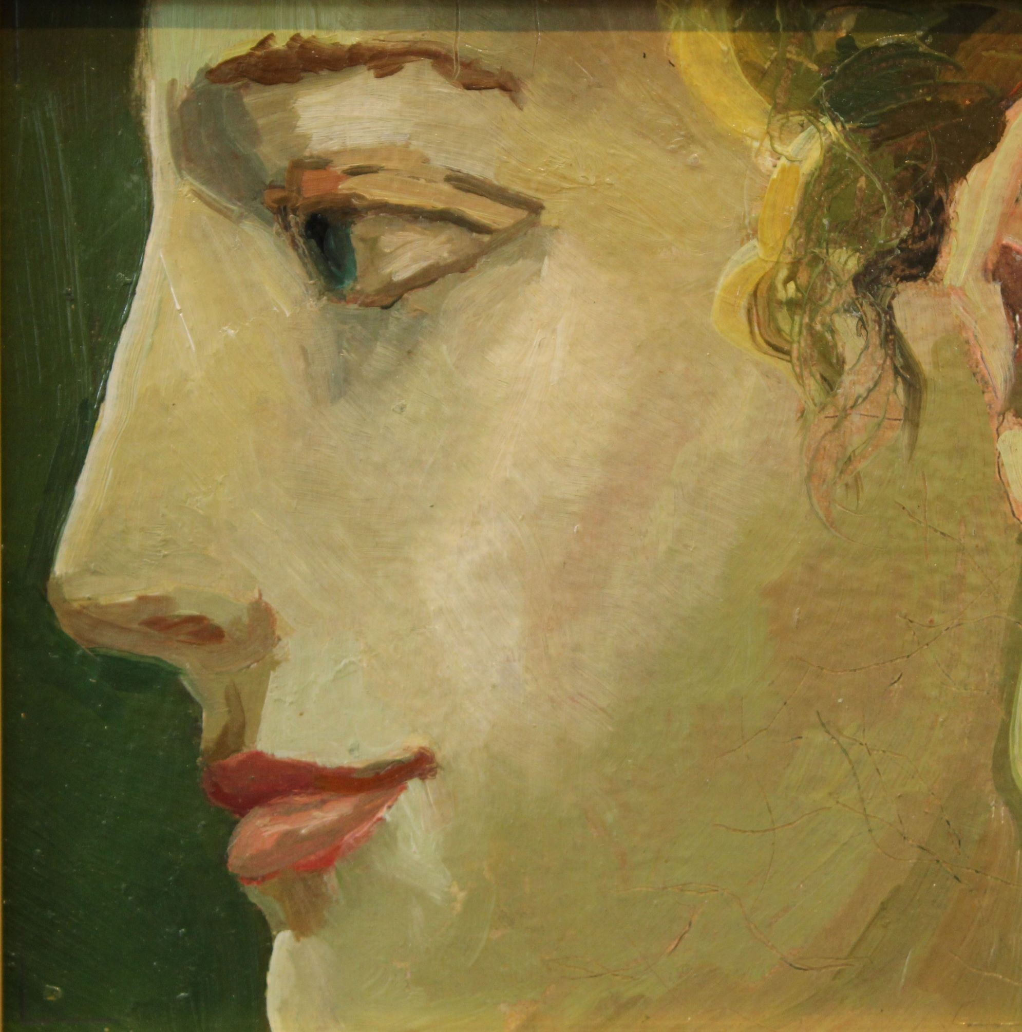 Alexander Sheversky-Face III Original Oil-6x6
