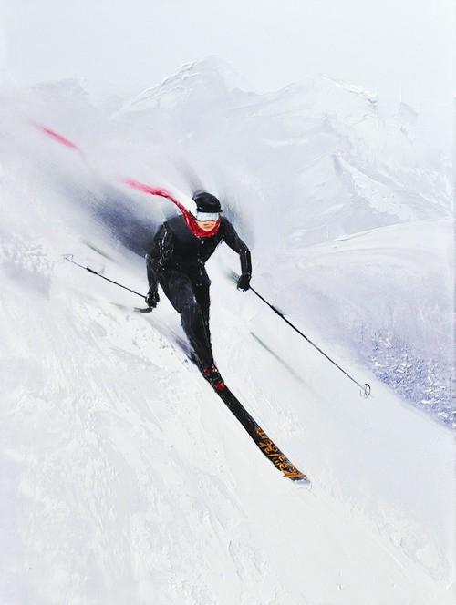 Kamiar Gajoum Mountain Grind Original Oil Painting 16x14