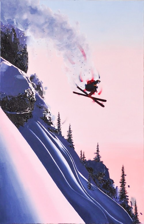 Kamiar Gajoum The Jump Original Oil Painting 40X26