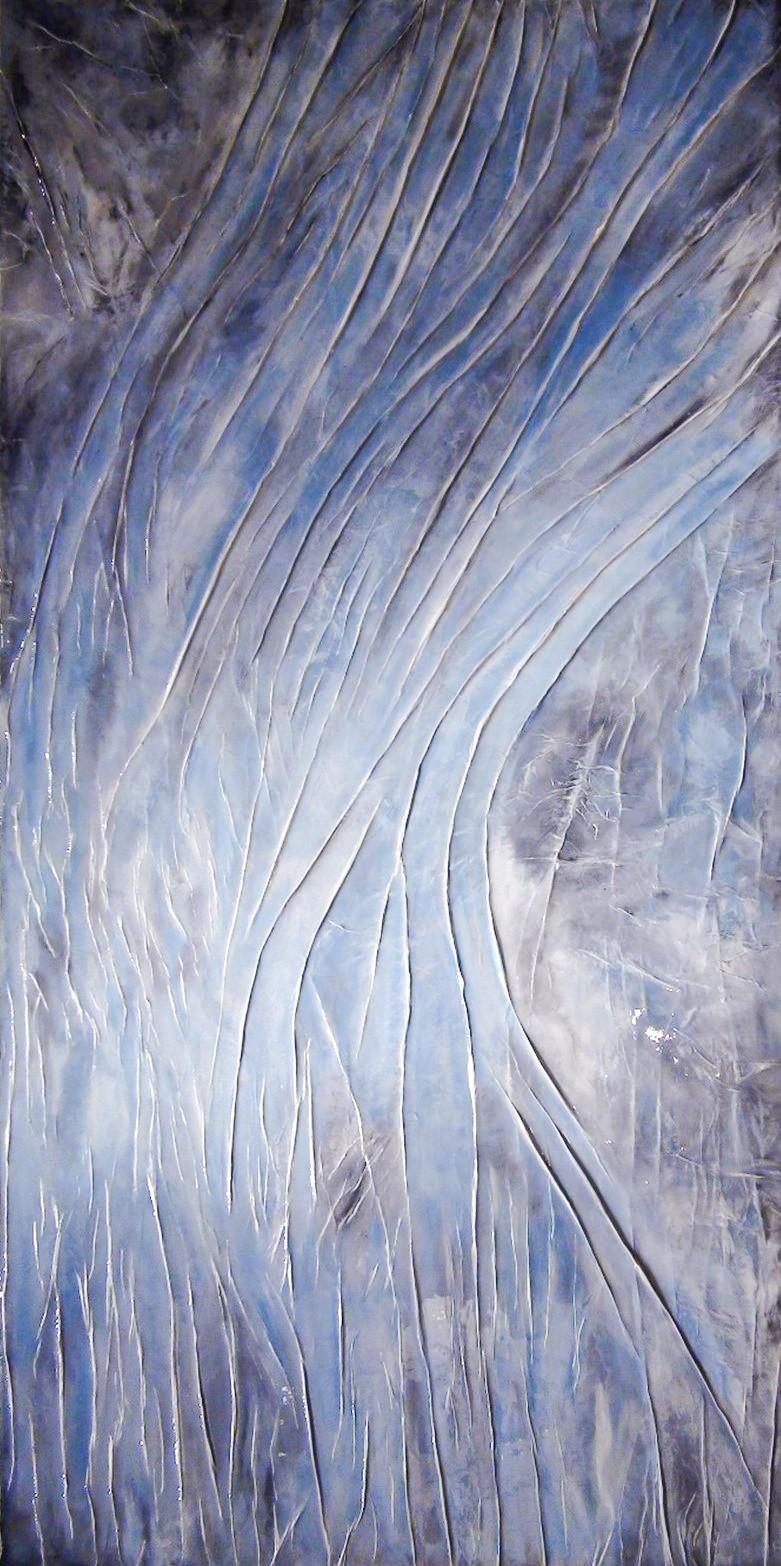 Contemporary Canadian Painter Prem The Flow Origina Mixed Media 72x36
