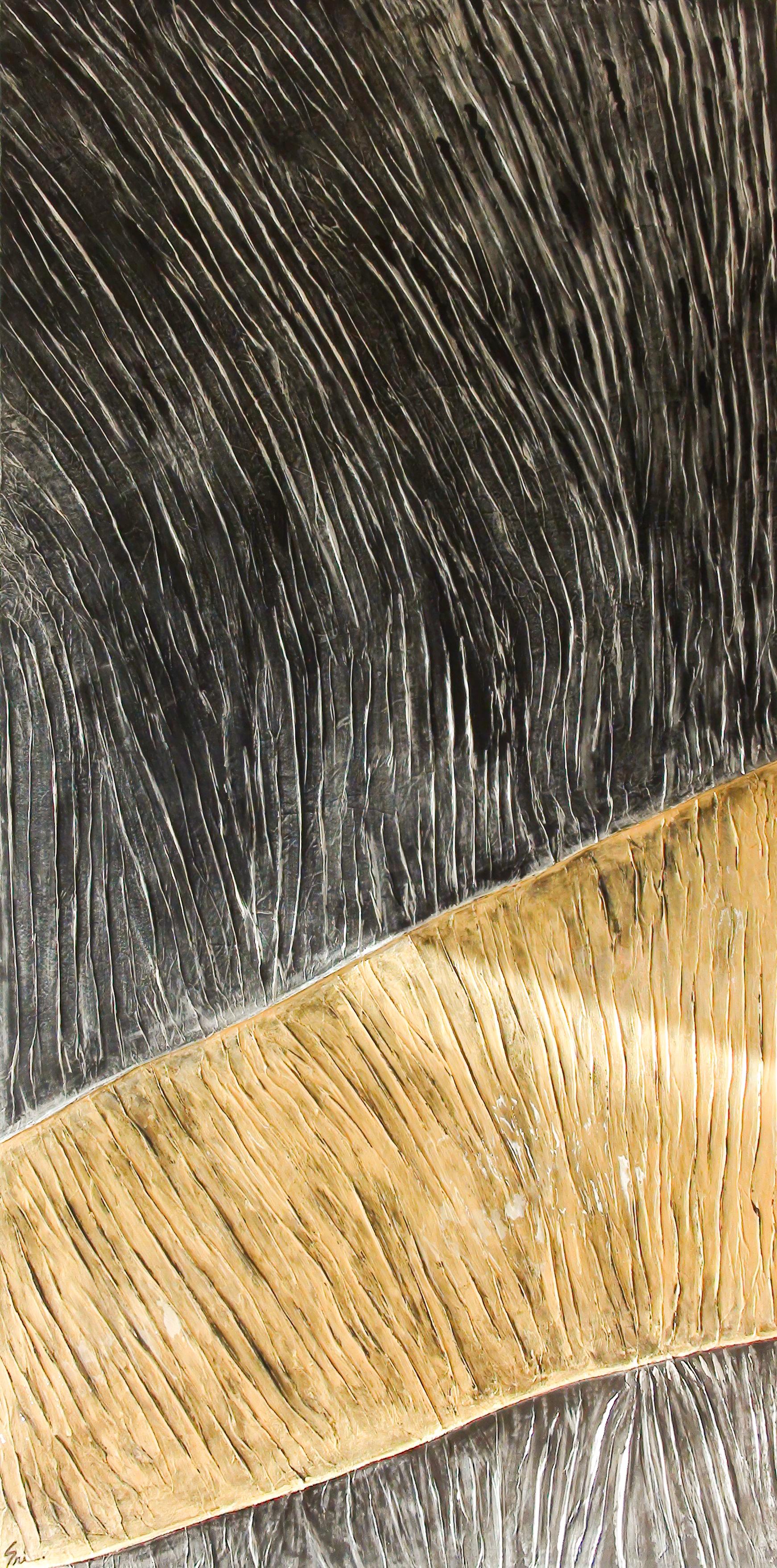 Prem-The Golden Path I Original Mixed Media Painting 72x36