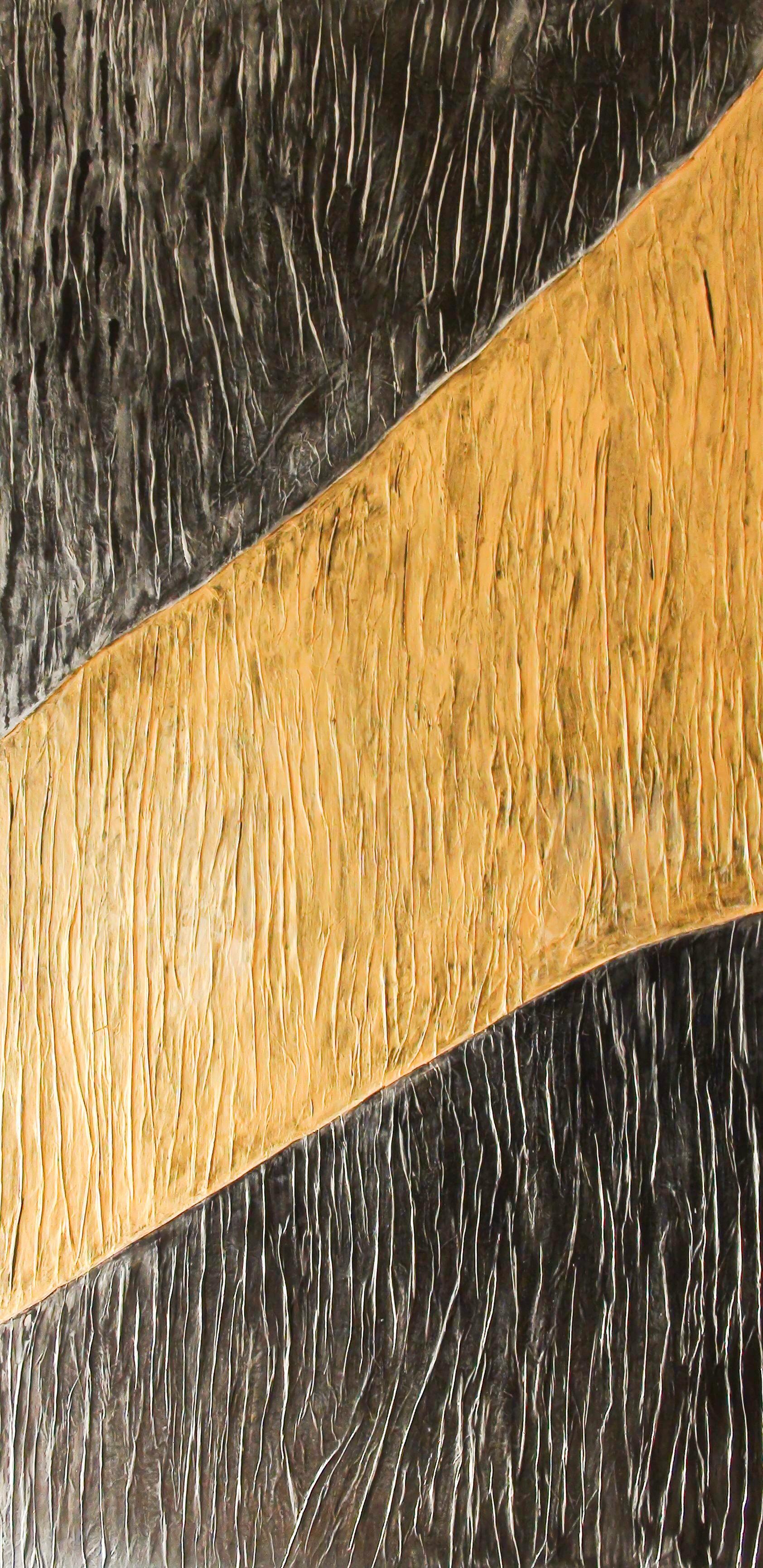 Prem The Golden Path II Original Mixed Media Painting 72x36