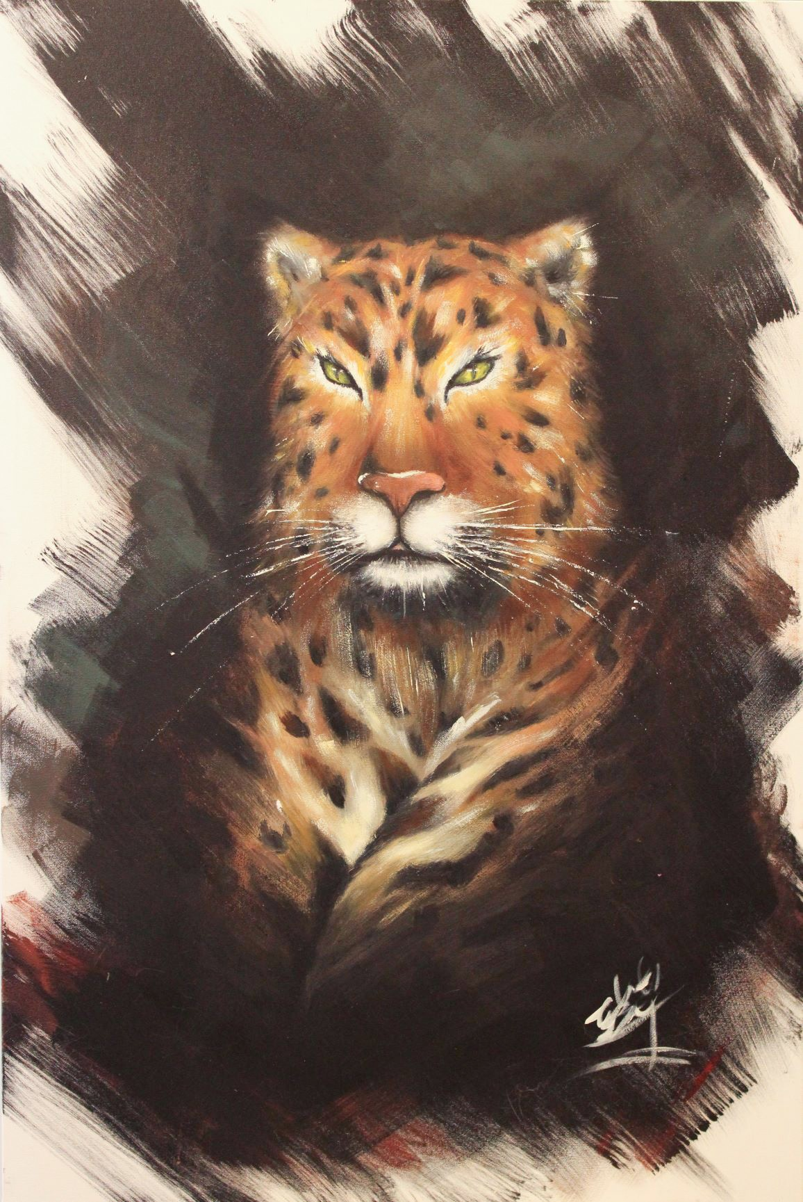 Amy Wang Out Of The Shadows Original Oil Painting 36x24