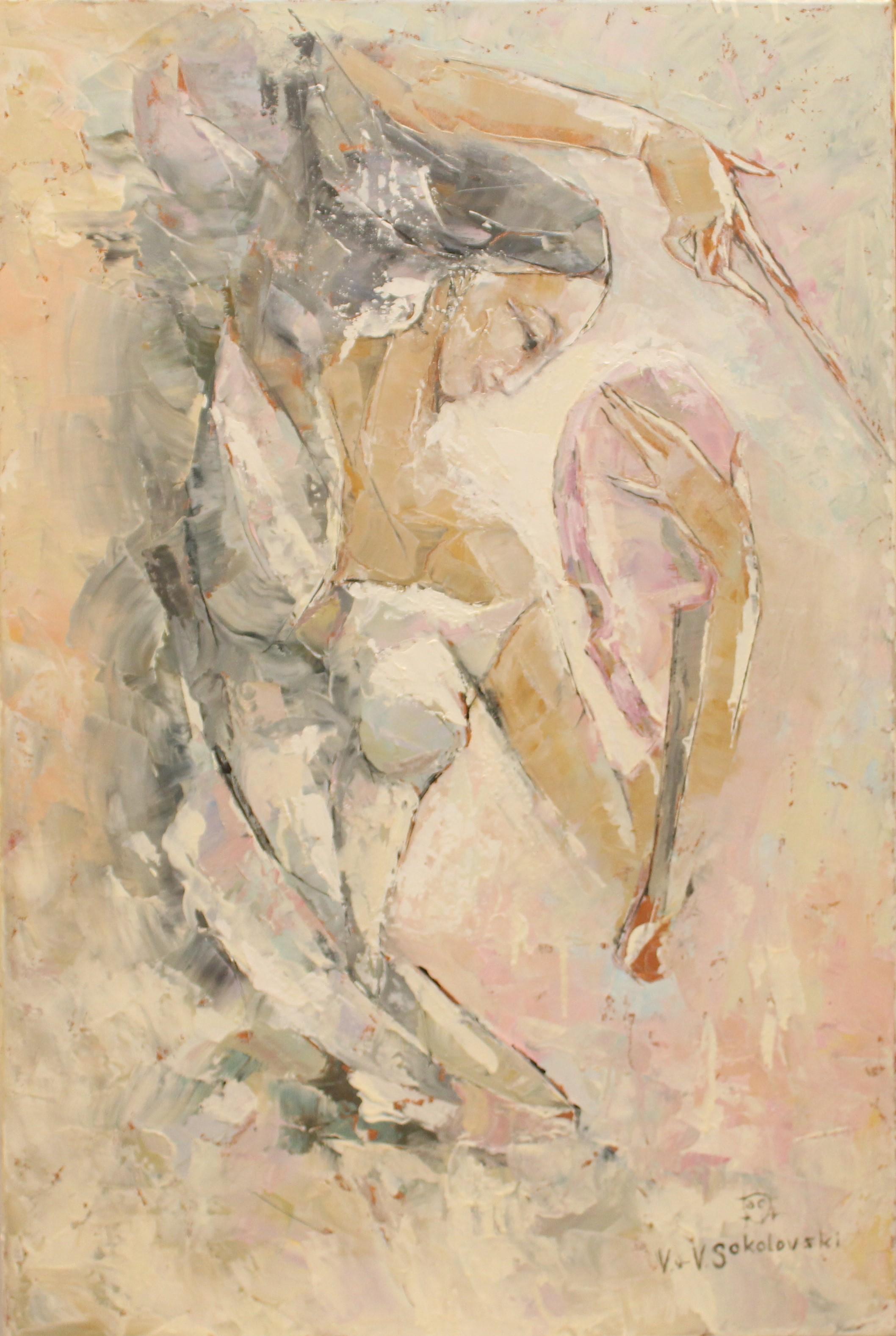Valeri Sokolovski Minor in White Oil Painting 30x20