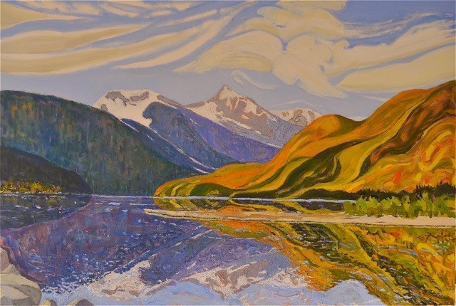 Birkenhead River Oil Painting 30x42 by Dennis Brown