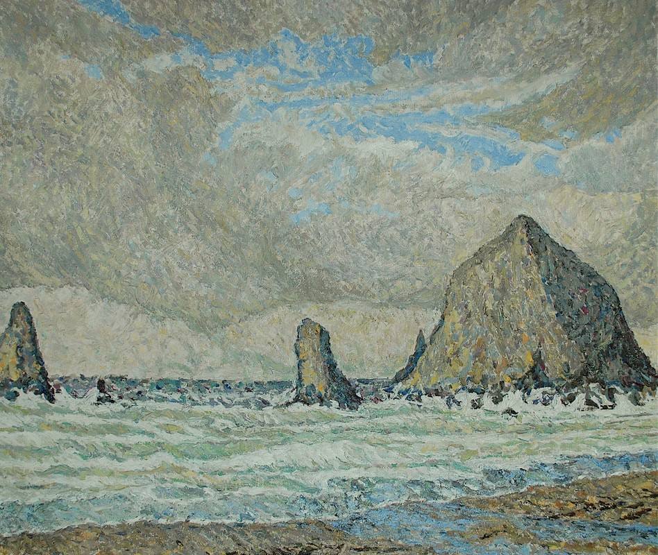 Tolvana (Haystack) Rock Oil Painting 20x24 Dennis Brown