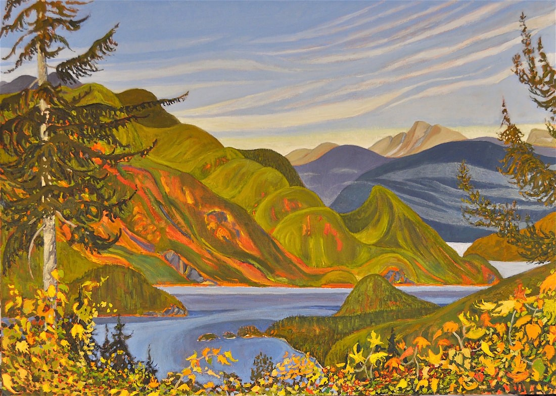 Indian Arm Oil painting 30x42 Dennis Brown