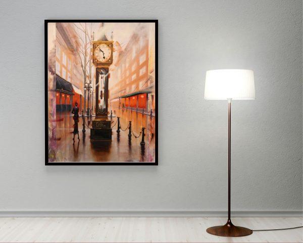 Kamiar Gajoum Gastown Original Oil Painting 60x40 Home Staging
