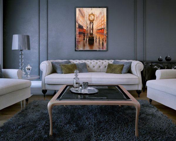 Kamiar Gajoum Gastowm Original Oil Painting 60x40 Home Staging