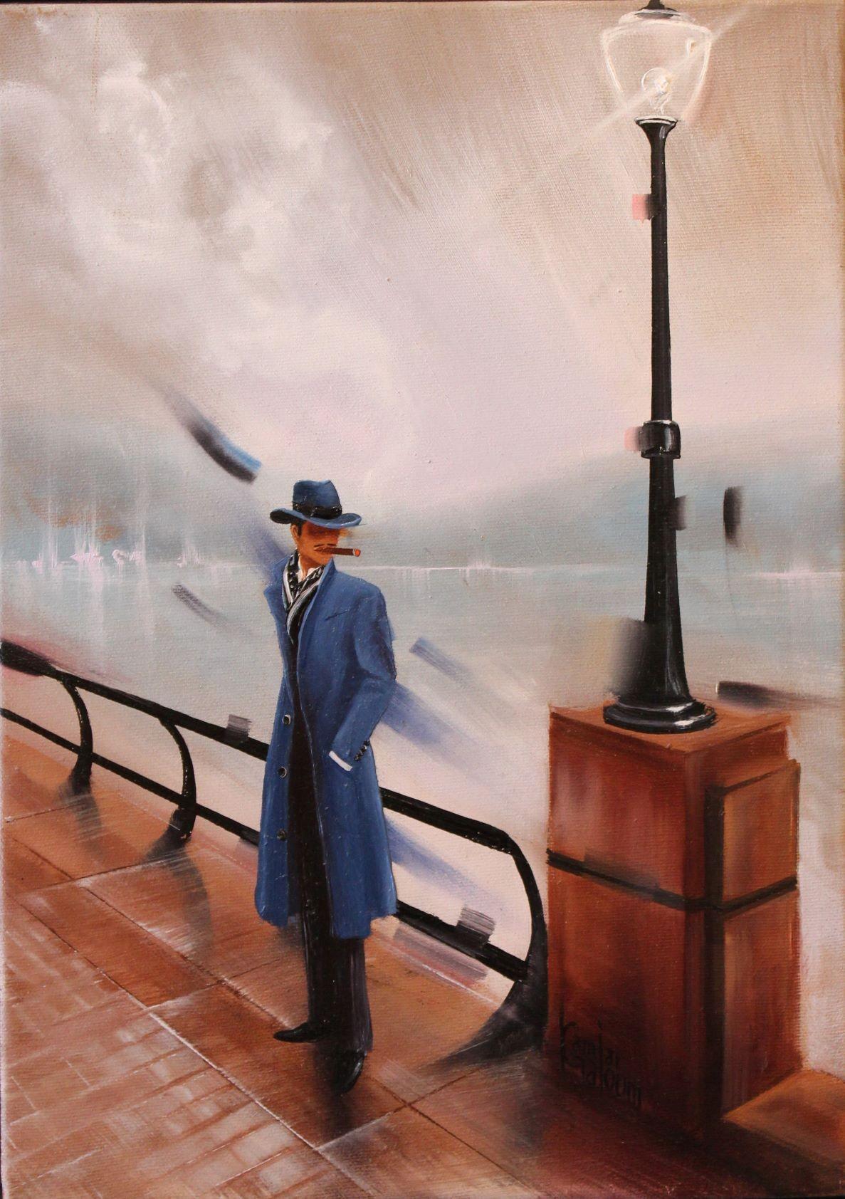 Kamiar Gajoum Focus Original Oil Painting 16x12
