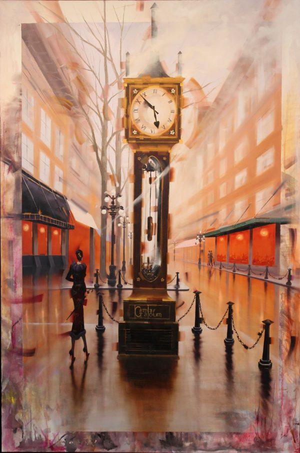 Gastown Kamiar Gajoum 60x40 Original Oil Painting