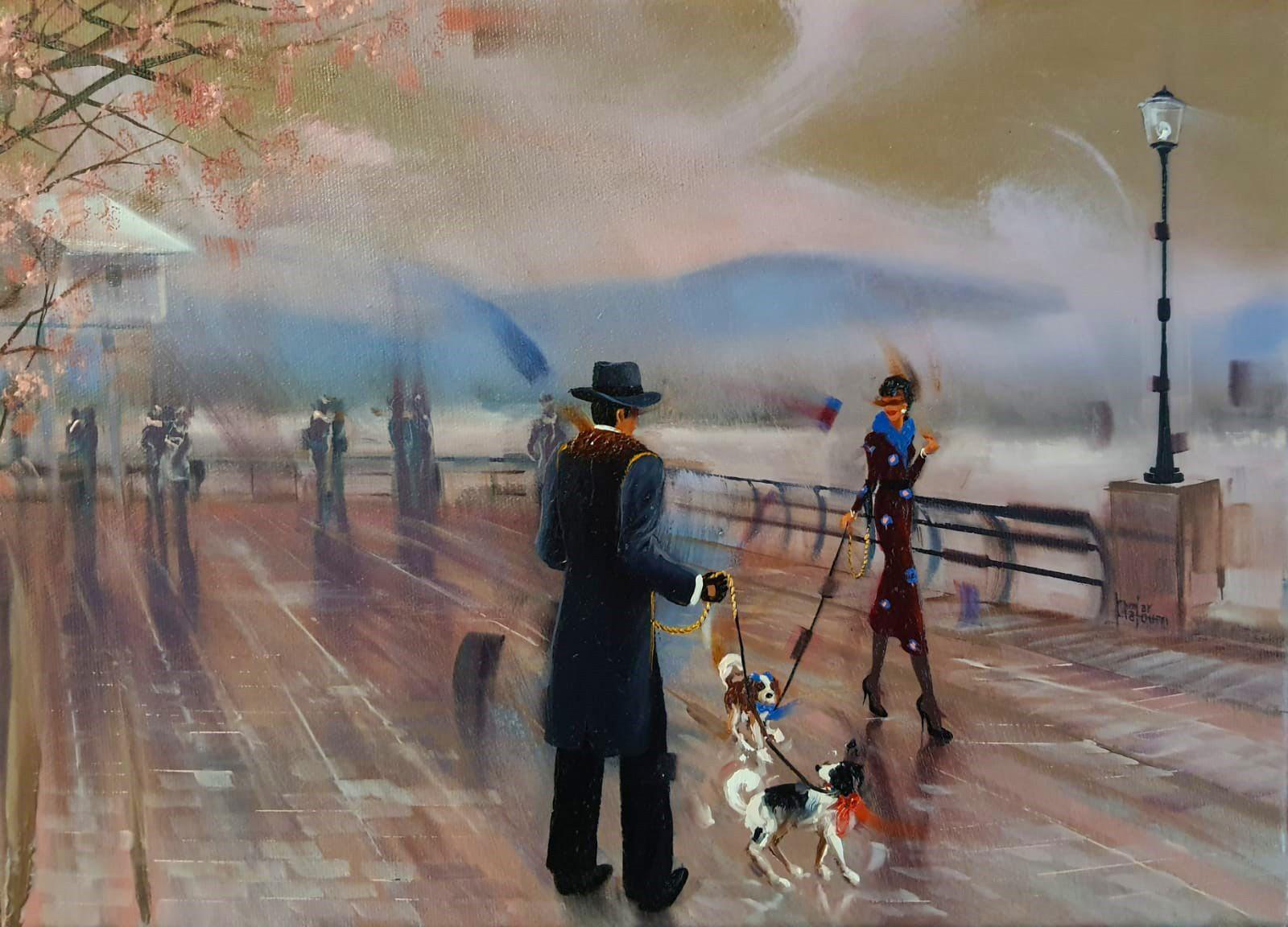 Kamiar Gajoum Vancouver Paths Original Oil Painting 12x16