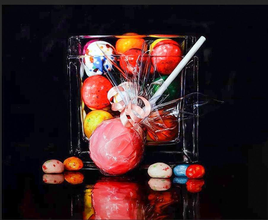 Alexander Sheversky- Pink Lollipop-Original Oil 40x48