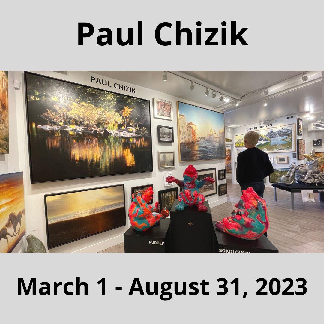 Canadian contemporary artist Paul Chizik exhibition.
