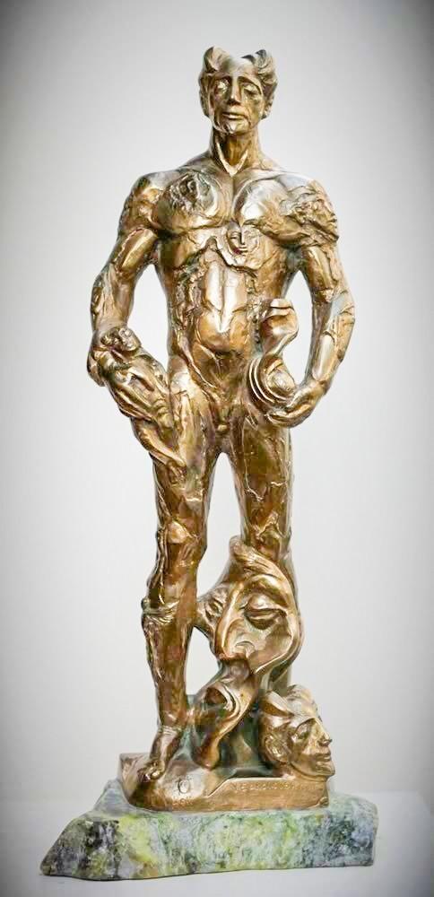 Valeri Sokolovski Allegory of Sculpture Original Bronze 21