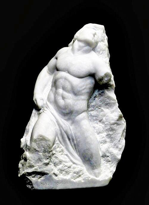 Valeri Sokolovski Male Torso Italian Carrara Marble Sculpture_24