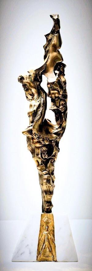 Underworld Original Bronze Sculpture_21x4 Valeri Sokolovski