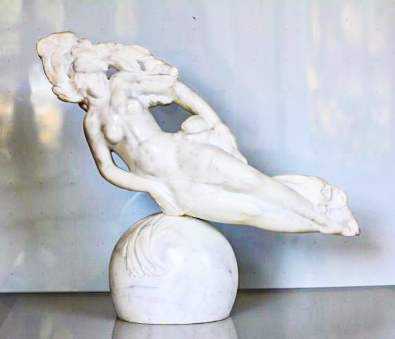 Valeri Sokolovski Unison Italian Carrara Marble Sculpture 17x20