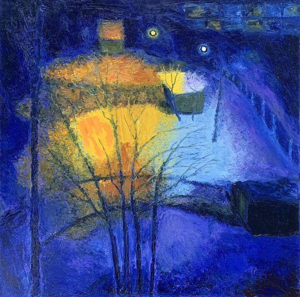 Anastasia Fedorova-At Night-Oil on Canvas-28x28
