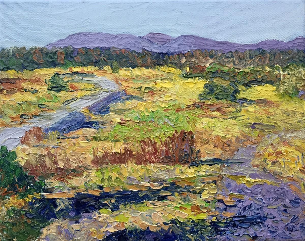 Anastasia Fedorova Blue Paths Oil on Canvas 8x10