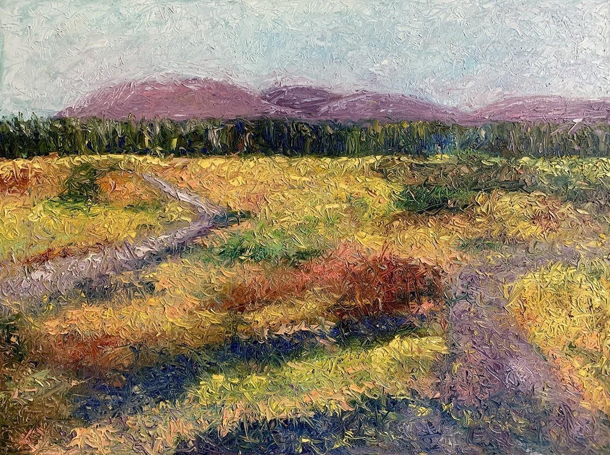 Anastasia Fedorova Velvet Paths Original Oil on Canvas 30x40