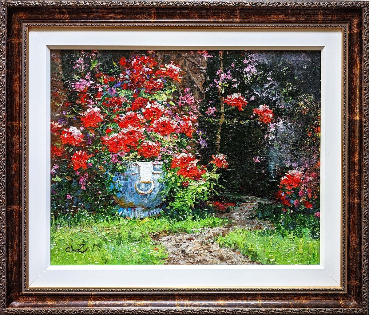Scarlet Flowers -16x20 - Original Oil - Olivia Zeng