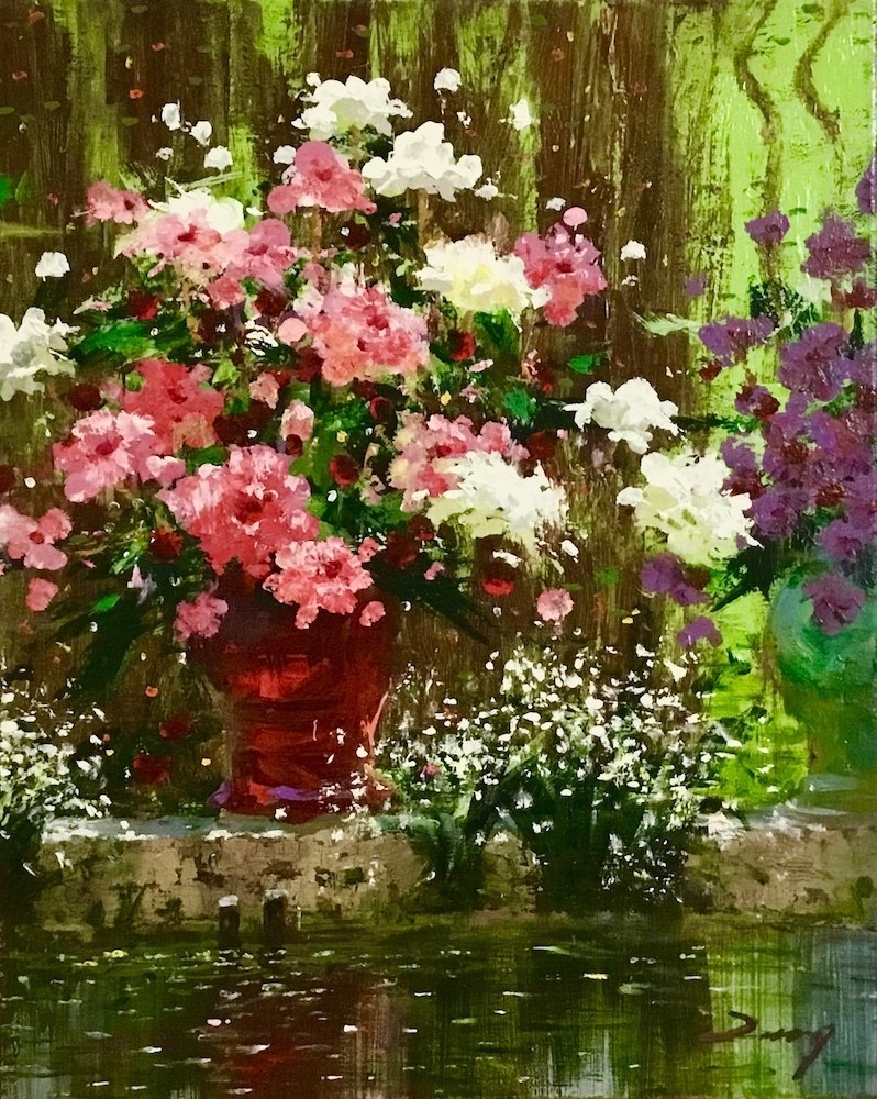 Uncle Zeng_Flower by the Water_Original Oil_20x16
