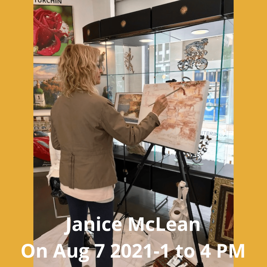 Canadian artist Janice McLean Live Painting